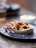 Grilled calamari with smoked ground paprika