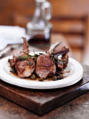 Grilled lamb chops with rosemary and capers