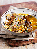 White beans with clams