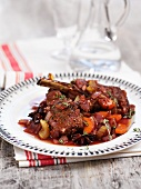 Beef ribs braised in red wine