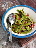 Green beans with lardons