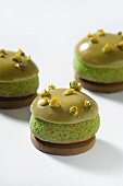 Choux pastry with pistachios (France)