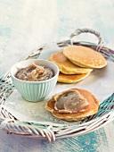 Pancakes with chestnut cream