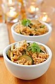 Curried rice with courgette and wax beans