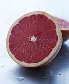 A pink grapefruit half