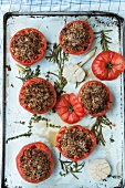 Tomatoes filled with minced veal