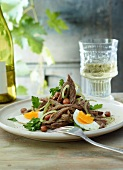 Sour beef with onions and egg (Steiermark, Austria)