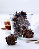 Chocolate cornflake cakes for Christmas