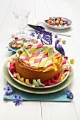 Migliaccio (an Italian carnival cake filled with semolina)