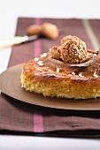 Torta di zucca (pumpkin cake with amaretti)