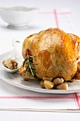 Tacchino alle castagne (turkey with a chestnut filling)