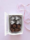 Heart-shaped chocolate cakes as a gift