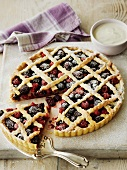 Berry tart with lattice crust