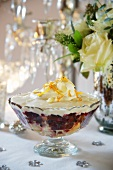 Trifle with creme brulee for Christmas