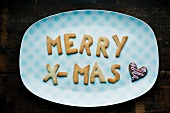 Christmas letter biscuits