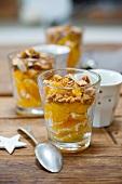 Orange salad with sliced almonds (for Christmas)