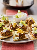 Tacos with chilli con carne