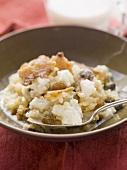 Rice dessert with raisins