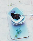 Blackberry jam with lemongrass and almond oil