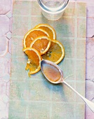 Banana and orange marmalade with rum