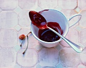 Cherry and rose hip jam