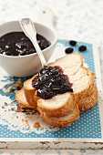 Blackberry jam and brioche