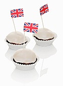 Cupcakes decorated with Union Jacks