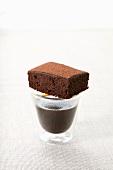 A mocha brownie