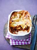 Vegetable lasagne in a baking dish