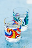 Two glasses of ouzo