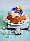 Iced ring cake for Easter
