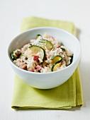 Risotto con gli zucchini (courgette risotto, Italy)