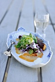 Smoked fish salad with asparagus and herbs (Denmark)