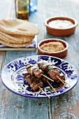 Grilled lamb kebabs