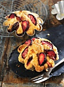 Damson tartlets with marzipan