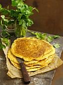 Instant dosa (rice bread, India)