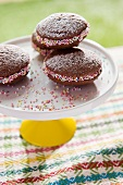 Whoopie pies decorated with sugar sprinkles