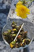 Faux olives (dandelion buds)