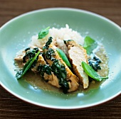 Chicken with coconut milk and spinach (West Indies)