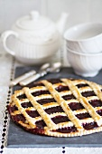 Crostata di visciole (cherry lattice tart)