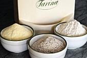 An arrangement of various types of flour