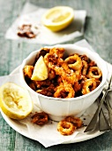 Calamari fritti (fried squid rings, Italy)