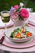 Oriental king prawn salad