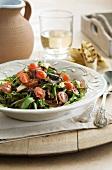Warm cinnamon-coated aubergine, tomato and caramelised onion salad