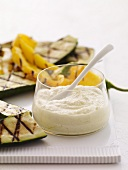 Grilled Vegetables with a Creamy Dip
