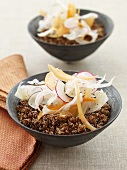 Two Bowls of Red Quinoa Salad