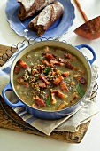 Puy lentil soup with bacon