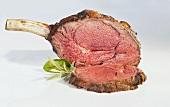 Fried rib-eye steak