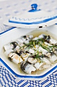 Pickled herring rolls (Scandinavia)