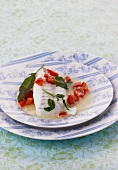 Poached cod with sage